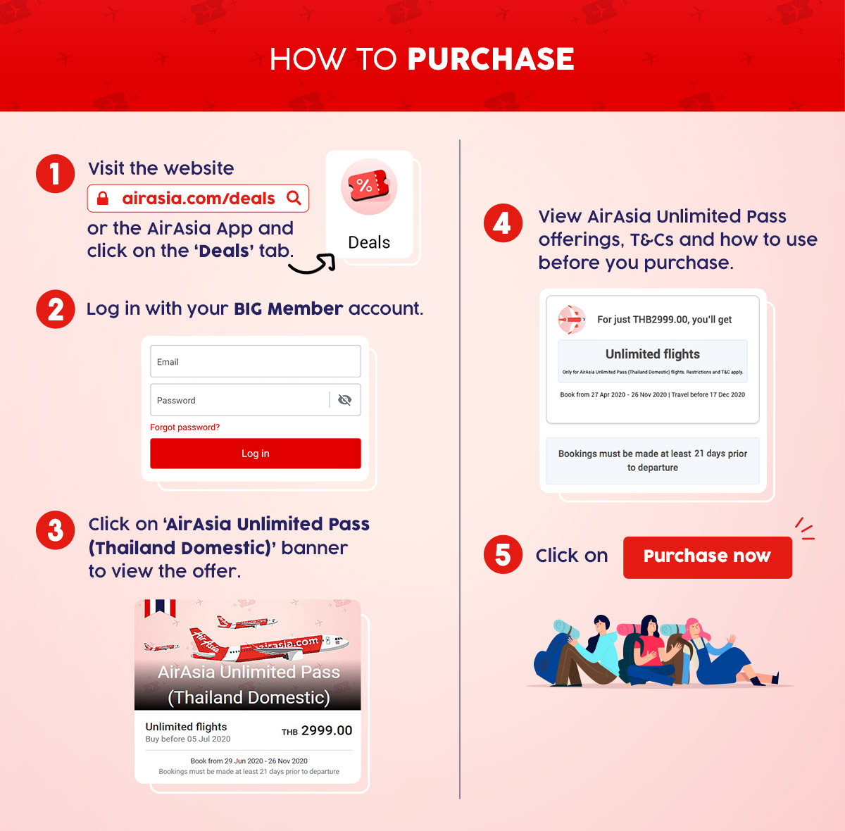 How to purchase the AirAsia Unlimited Pass (Thailand Domestic)